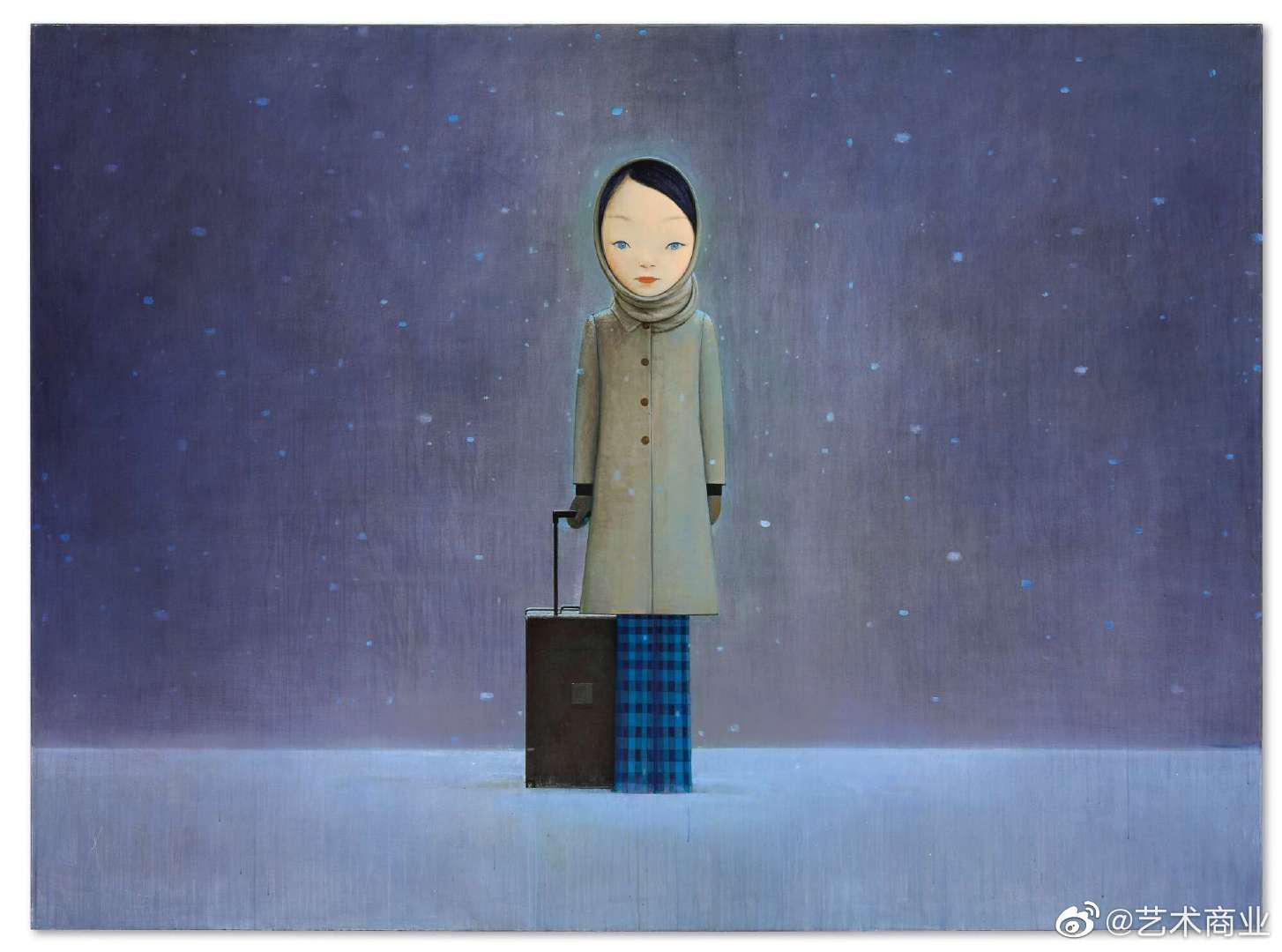 刘野《让我留在黑暗里》,亚克力 画布,219.7×299.7cm……
