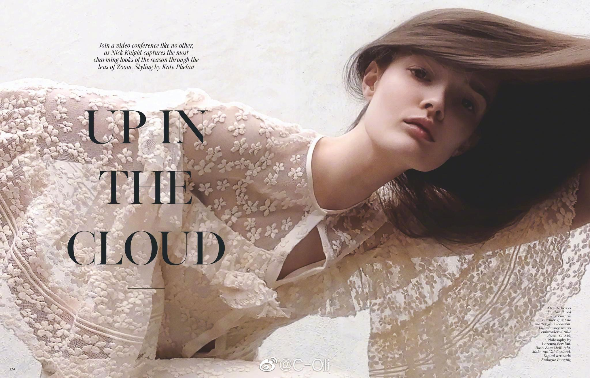 """VOGUE UK August 2020    英国版VOGUE八月刊大片 - """"Up In The Cloud"""""""