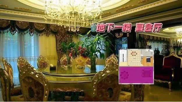 曹云金现实中的家装潢奢侈,客厅像是豪装的KTV