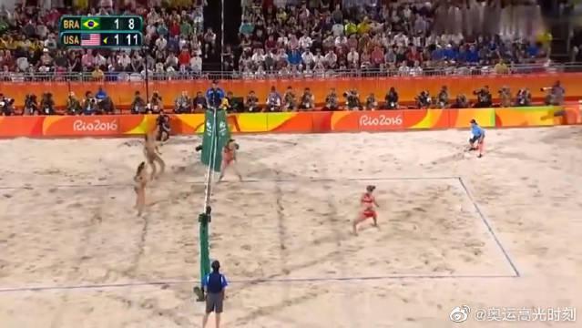 2016年里约奥运会女子沙滩排球铜牌之战……