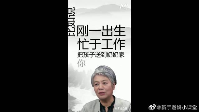 李玫瑾教授育儿讲座:孩子出生年一定要自己抚养……