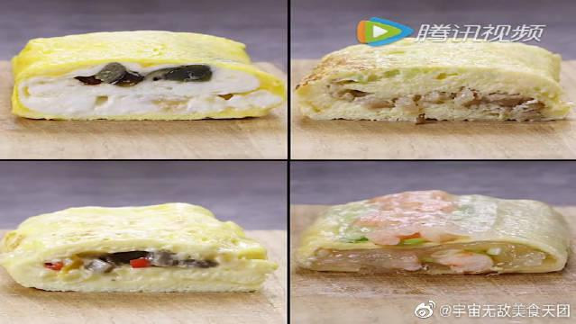 教你做千变万化的煎蛋,美味的三色蛋~这个有点厉害啊!
