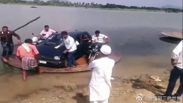 印度阿三都会开飞碟了!这水飞碟有点low吧~