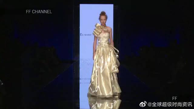 2020纽约时装周Elisabetta Polignano品牌婚纱秀,娇艳的身材……