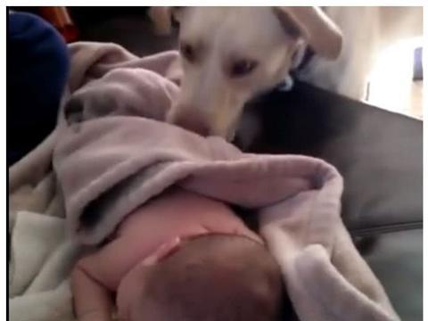 女子发现宝宝睡觉没有踢被子,心里好奇,查监控被感动