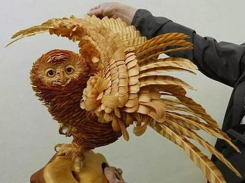 俄罗斯的木雕连丝丝毛发都雕出来了,简直就像是活标本