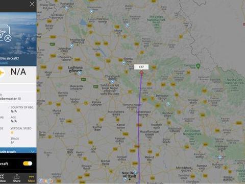 印度边境地区军机活动频繁,空中加油机行踪曝光,印度网友生气了