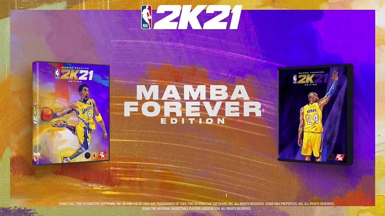 NBA2K21发布手绘科比致敬曼巴。mamba forever❤️
