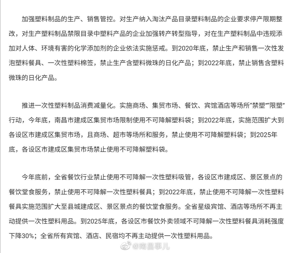 """南昌史上最强""""限塑""""令 商超等场所禁止使用不可降解塑料袋"""