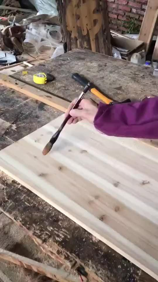 简单制作木板字画