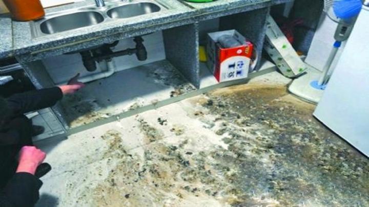 污水管道反涌!厨房画面令人作恶,物管一再拖延业主急上火
