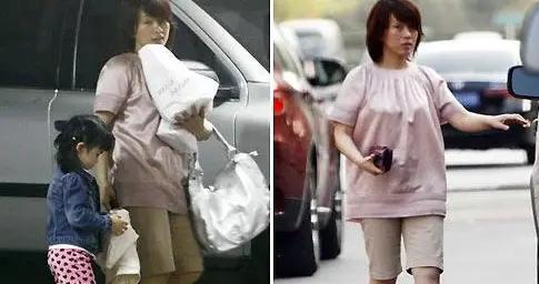 陈明嫁人后好低调,居家服就出来逛街,真的一点明星包袱都没有了