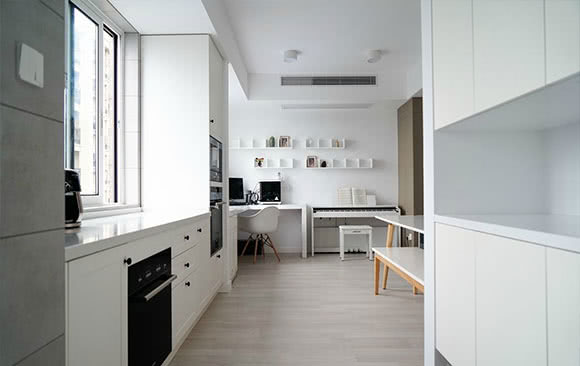 90㎡居然做三房,卫生间装隐形门,温馨舒适的简约风格装修设计