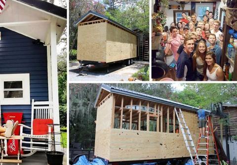 男大学生自己动手盖了个房子, 设施齐全只花了7万元