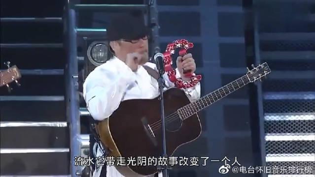罗大佑《光阴的故事》,纵贯线台北演唱会现场版,大佬哦!