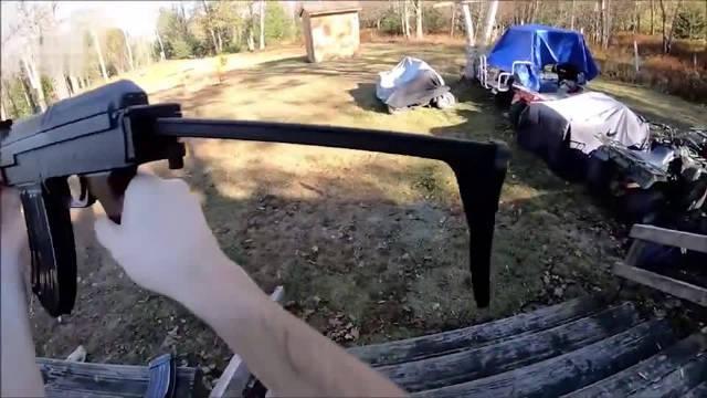 捷克Vz58突击步枪靶场射击测试,乍一看外形有点像AK4