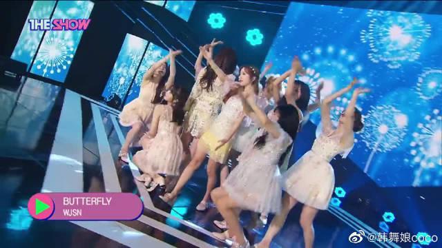 宇宙少女回归韩秀榜新舞台,绝美的蝴蝶仙子们
