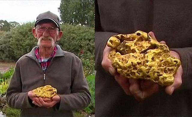 男子耗时37年找到4.3公斤的金块,被收藏家以205万的价格收购