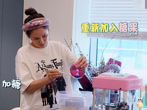 陈乔恩成功制作出棉花糖时,谁注意她脸上的表情?怕是忘了有镜头