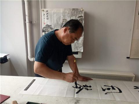 中国屈原学会唐山屈原纪念馆书画院庆建党99周年书画笔会