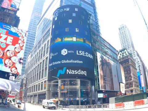 一二映像:纽约时代广场大屏路透屏纳斯达克大屏0629案例