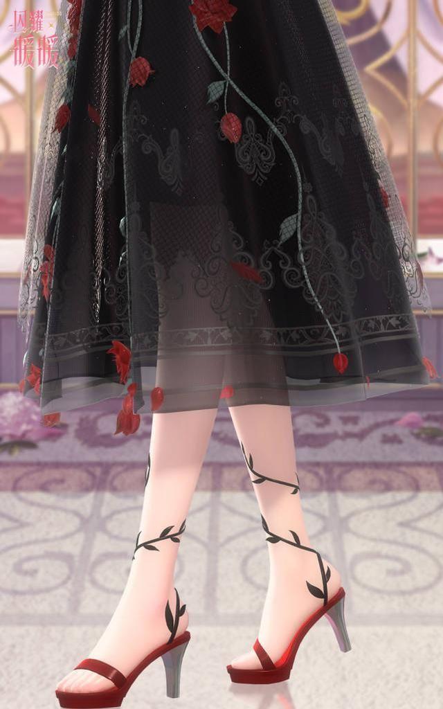 闪耀暖暖:优雅的化身却不好好穿鞋,一字高跟拖鞋能走好路吗?
