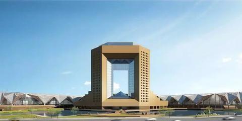 雄鹰振翅!青海国际会展中心主体结构封顶