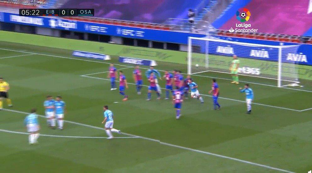 埃瓦尔0-2奥萨苏纳……