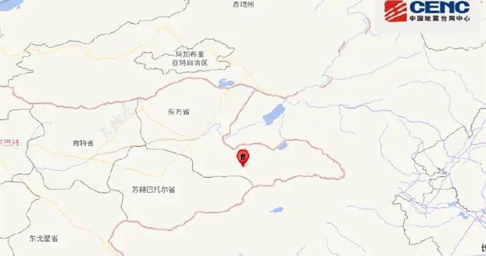 蒙古发生5.2级地震 震源深度10千米
