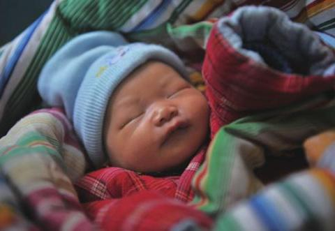 农民干活的时候,在树林里听到了婴儿的哭声,走近一看吓一跳