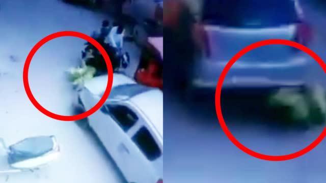 现场!印警官酒驾撞人逃逸 60岁老妇被卷入车底拖行数米又遭碾压