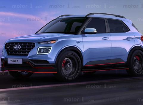 尺寸小于昂希诺!性能强悍的小型SUV,现代Venue N渲染图曝光