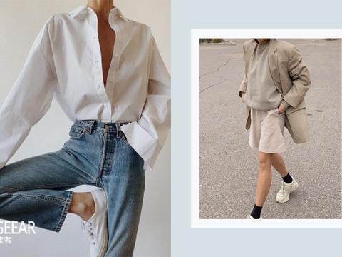 白球鞋天天穿也不腻,毫不费力搭出夏季造型!