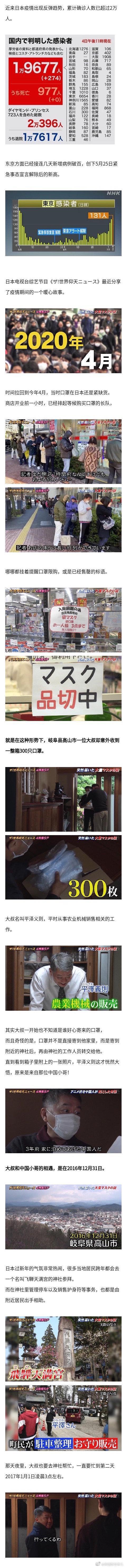 口罩紧缺时期,一位日本大叔却突然收到一整箱口罩……