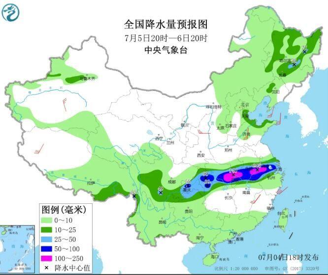 注意安全!吉林省发布暴雨橙色预警!