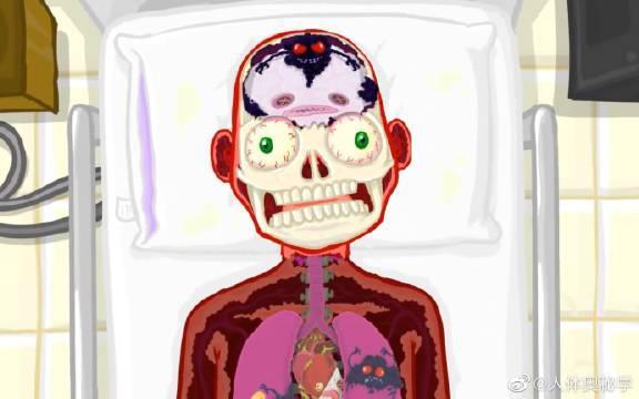 油管7000万播放量动画短片《请不要再虐待你的器官了》