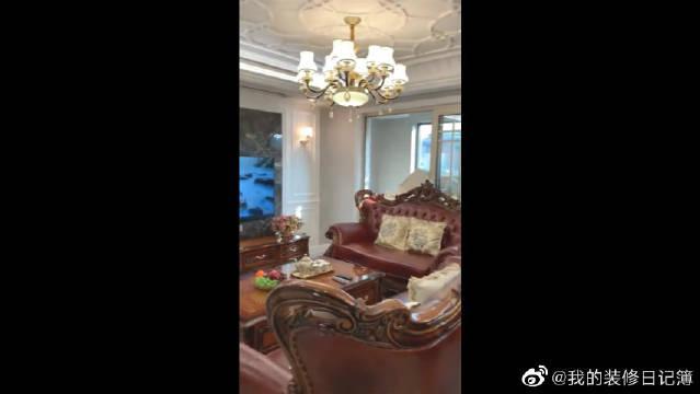中式风格的婚房终于装修好了,非常大气哦!