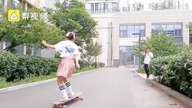 宠女狂魔!11岁女孩玩滑板1月磨坏3双鞋……