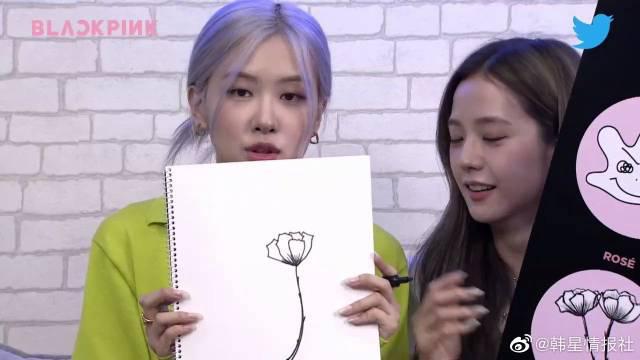 四位平平无奇的绘画小天才粗线了~ Lisa看到jennie画手的时候……