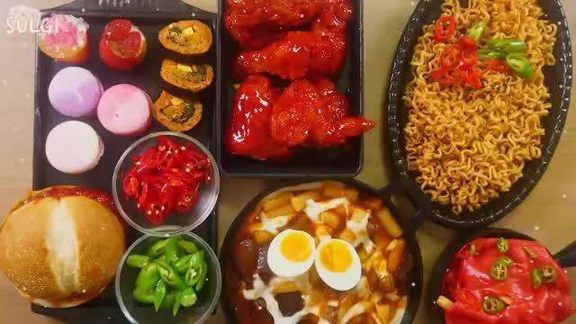 Sulgi小姐姐吃播/拉面?炸鸡🍗、汉堡🍔、马卡龙