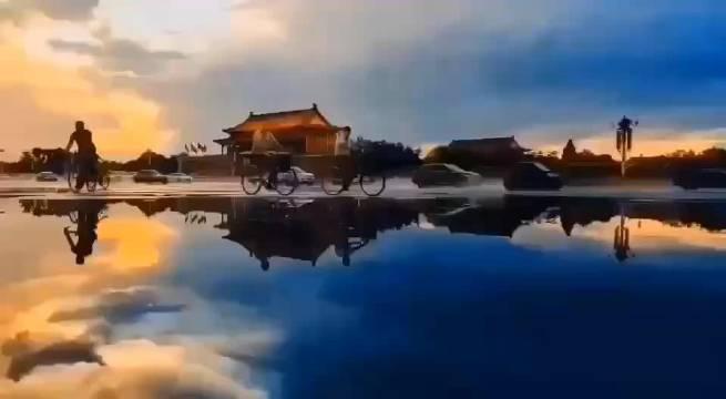 那一抹夕阳,今日傍晚之长安街 大北京真美