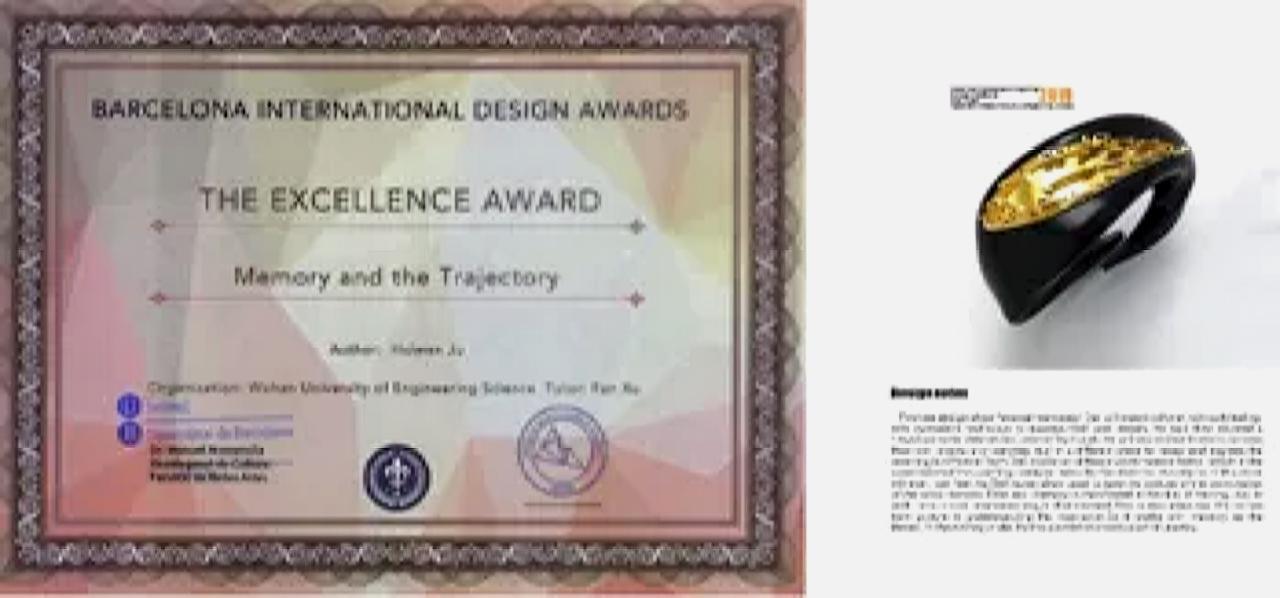 武汉工程科技学院学子作品,入围MIC国际珠宝首饰大赛39强