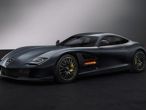 复刻经典元素,梅赛德斯SLR-AMG概念车渲染图