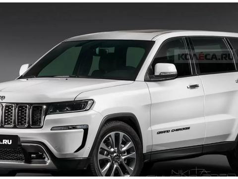 全新Jeep大切诺基渲染图曝光,外观看起来很时尚