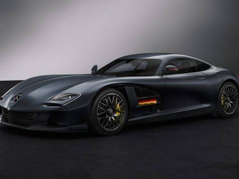 酷似蝙蝠侠战车,融合SLR McLaren元素,新SLR-AMG渲染图曝光