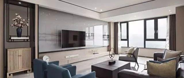 新中式风格家居装修设计,128㎡装修案例,实用功能为前提!