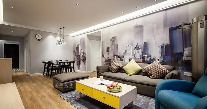 90后小夫妻花4万元装修的现代风格,83平米三居室太赞了!-曙宏南苑装修