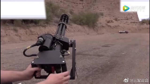 军迷珍藏版M134加特林机枪,射速太快,扣下扳机就是狂风骤雨