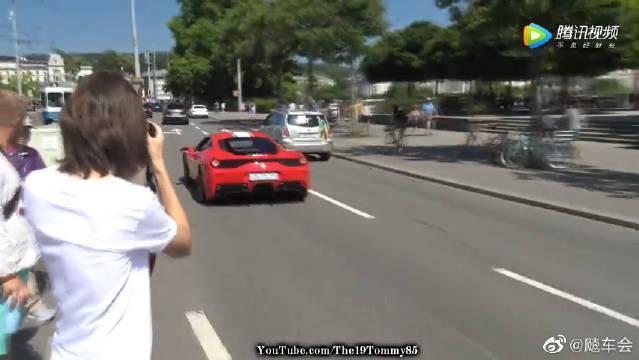 苏黎世追拍超级跑车,兰博基尼、法拉利等豪车街头暴走!