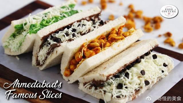 布拉德片,面包片,艾哈迈达巴德·曼内克·乔克的街头美食